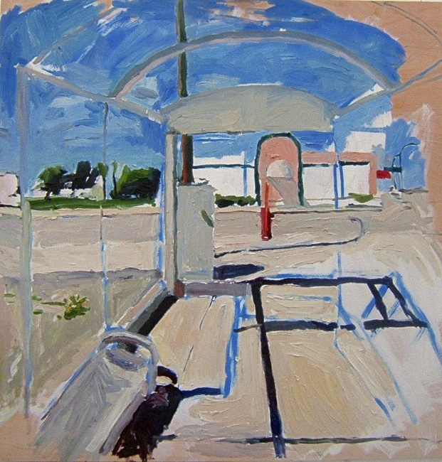 "Pembina and Windermere. 30"" x 30"" 2008 Oil on birch panel. (Series of 12)"