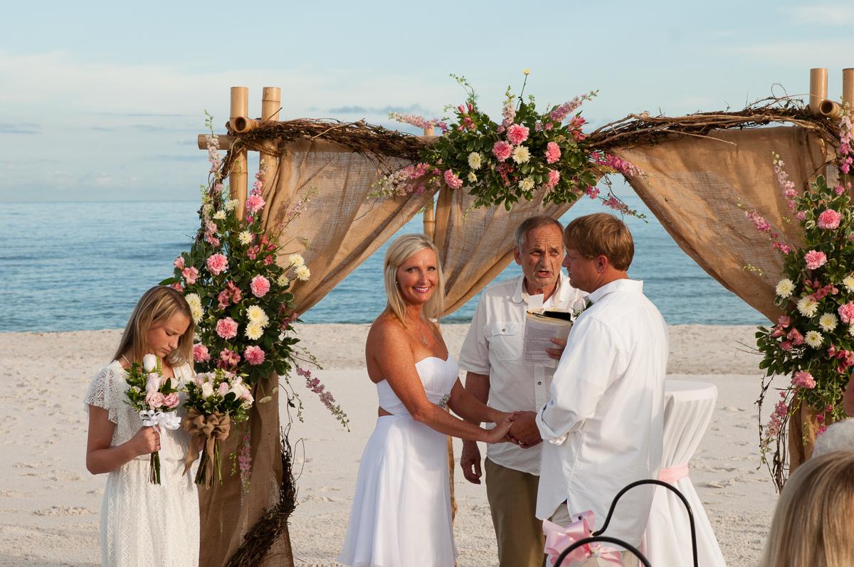Alabama Beach Wedding And Beach Reception Sand Dollar Beach