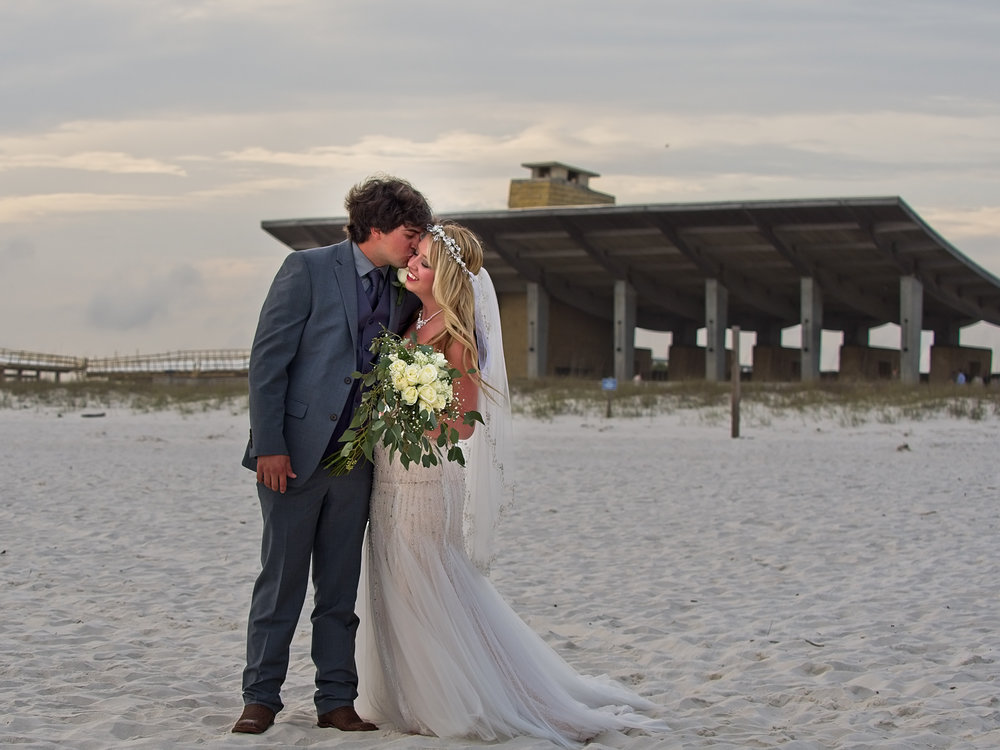 Beach Pavilion Kiss