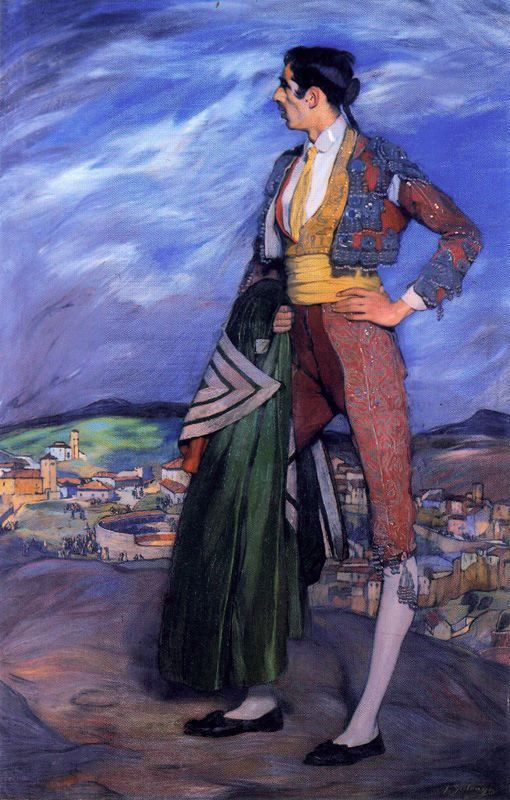 "rickkanelives :      flashandfootle :      nepego :      thecabinet :     ""Bullfighter"",  Ignacio Zuloaga y Zabaleta , Private Collection"