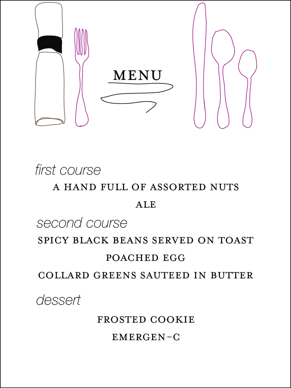 i'm cooking dinner for my man tomorrow night. look how fancy i am; i procrastinated sleeping to make a menu.