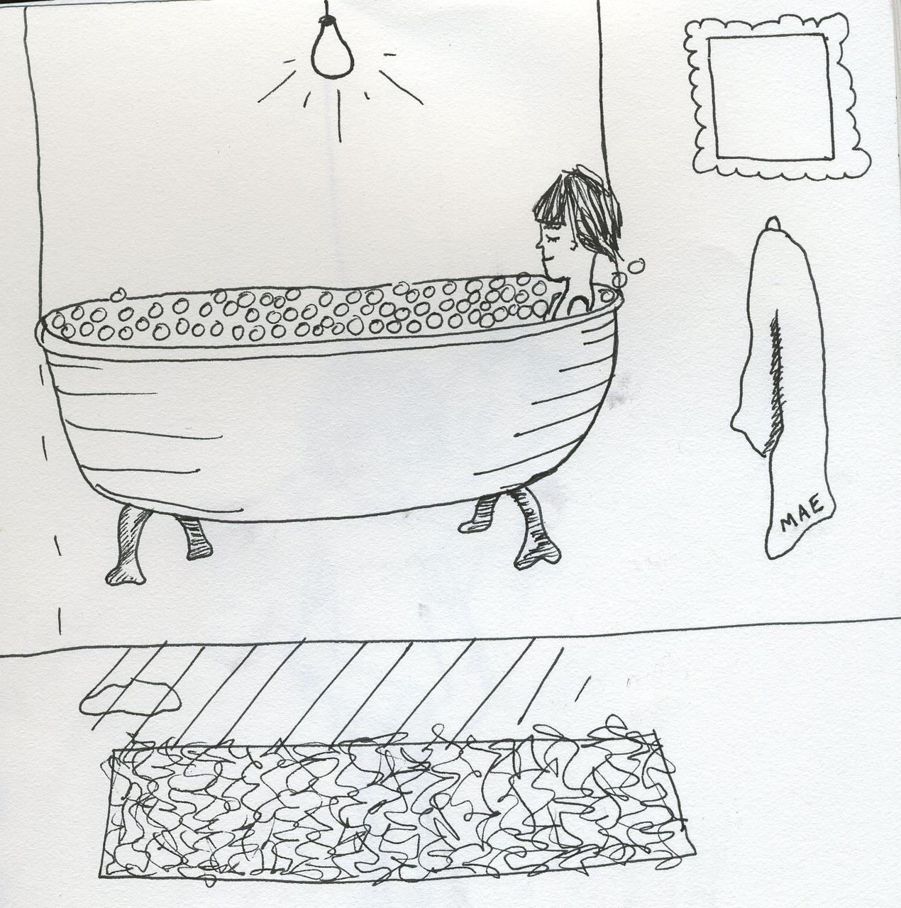 i think an elevated bathtub is a super idea