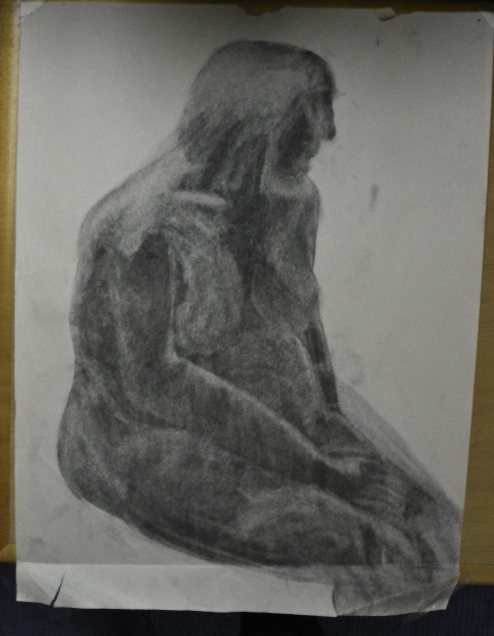 nude charcoal drawing    (britt original)