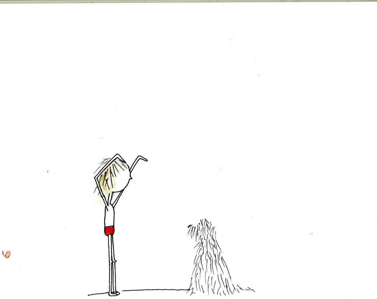 """lee and dog"" (britt original)"