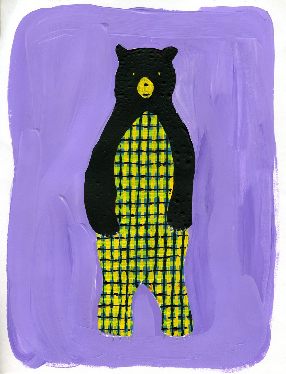 plaid bear    (britt original)