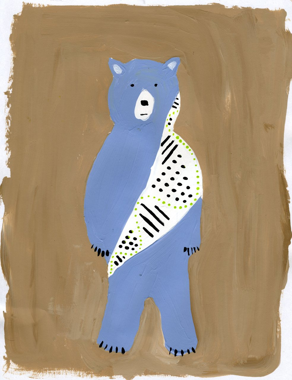 dots and stripes bear (britt original)