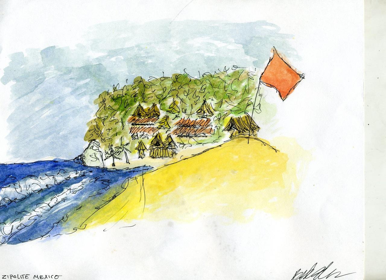 zipolite watercolor    (britt original)