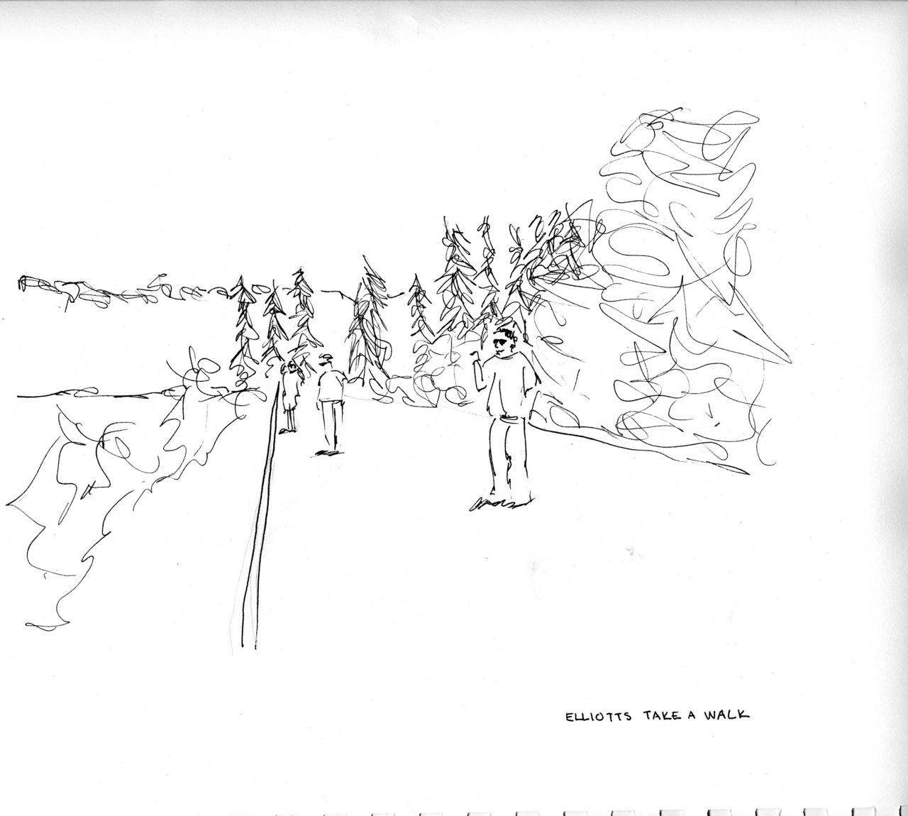 the elliotts take a walk    (britt original)