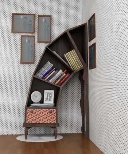 teachingliteracy :      idealinterior :     Cool bookshelf.