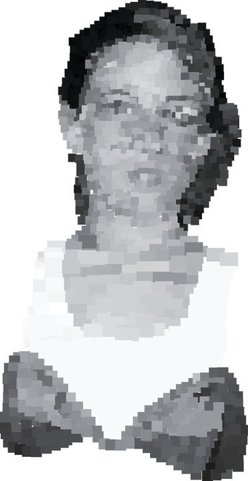 pixel portrait of my sister