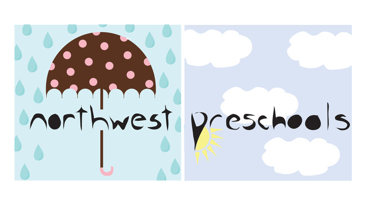 i'm doing the identity for an up & coming resource site called northwest preschools and this is my first draft
