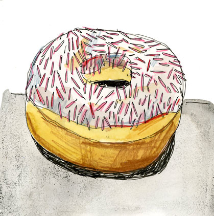 creaturecomfortsblog: The best kind of dessert - pretty and calorie free! donut (by Elizabeth Graeber)
