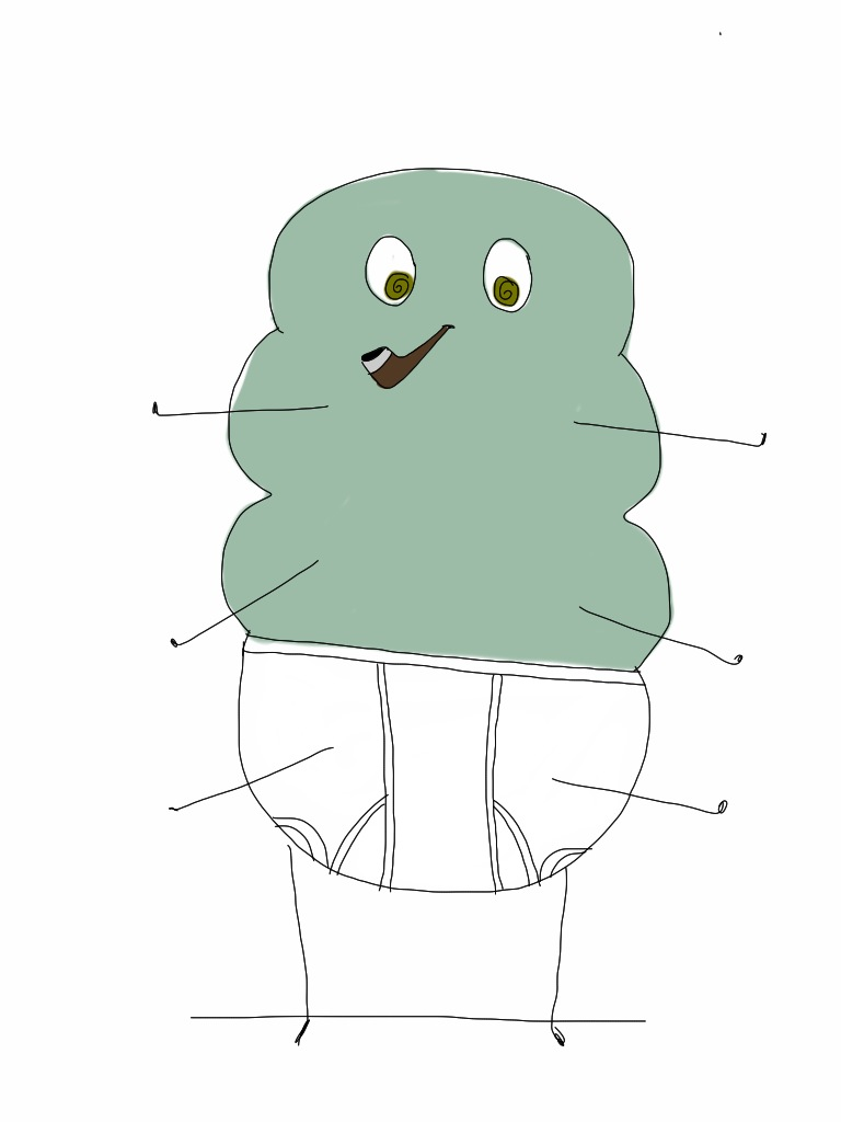 This cracked out caterpillar represents my complete lack of genius ideas