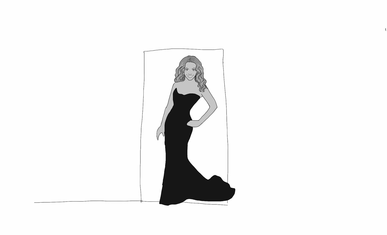 In my Email Noir for the Digital Age e-comic, the femme/homme fatale was originally going to be Beyonce, but my test audience (roommates) didn't recognize this drawing as Beyonce, so I went with JT instead. It's here, if you haven't seen it: http://us5.campaign-archive2.com/?u=59e3463e739ab94c42b7354cf&id=7783a45744