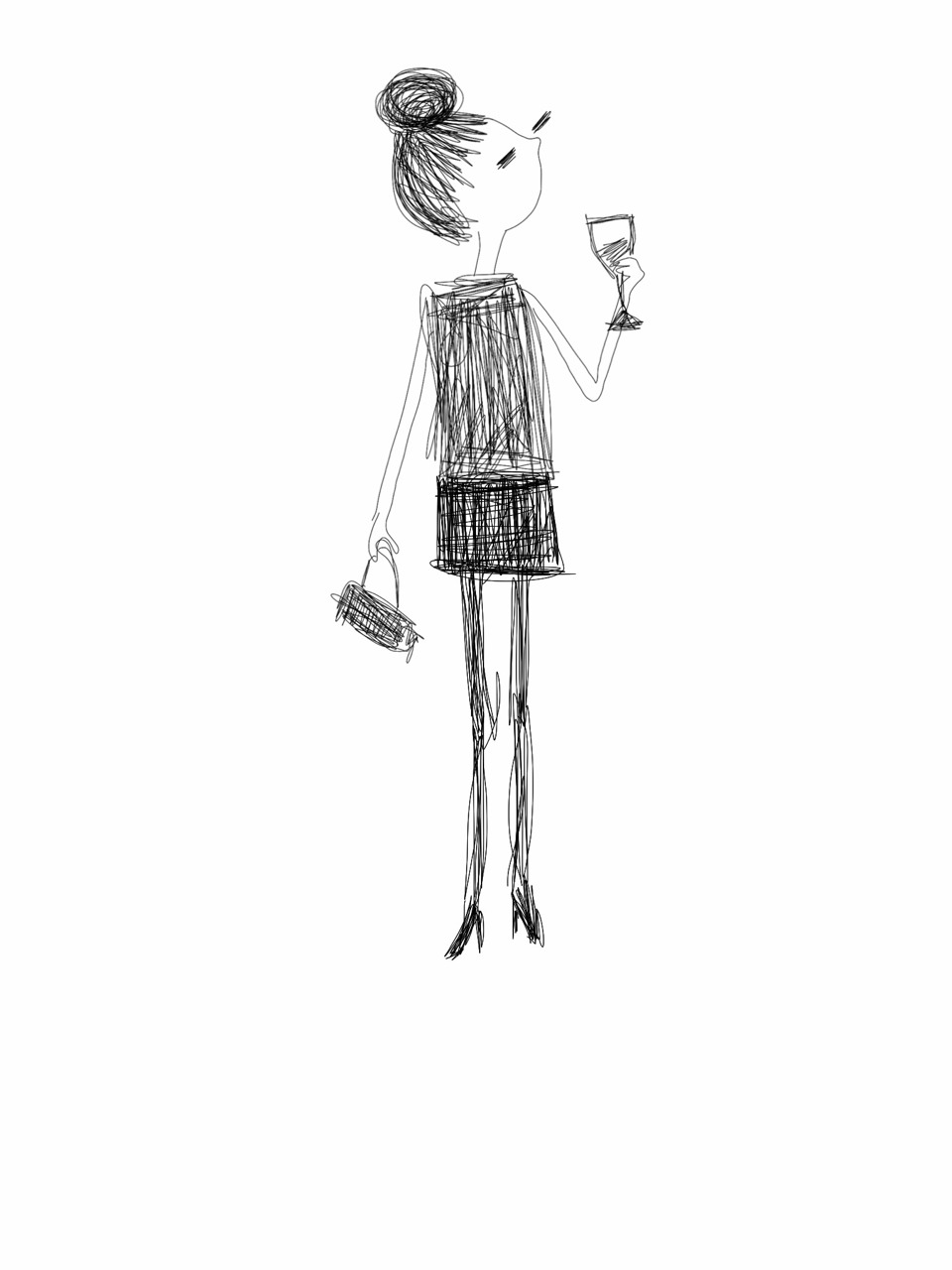Wine drinker with purse