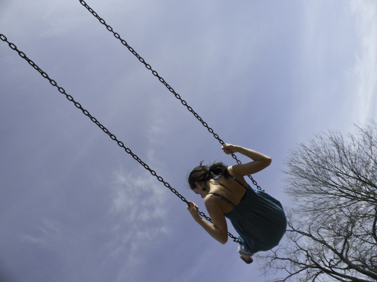 went to overlook park today with some friends and matt caught me on the swing. i like it so much.