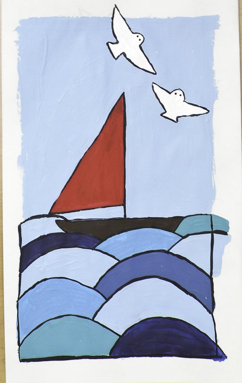 i think about sailboats a lot.    (britt original)