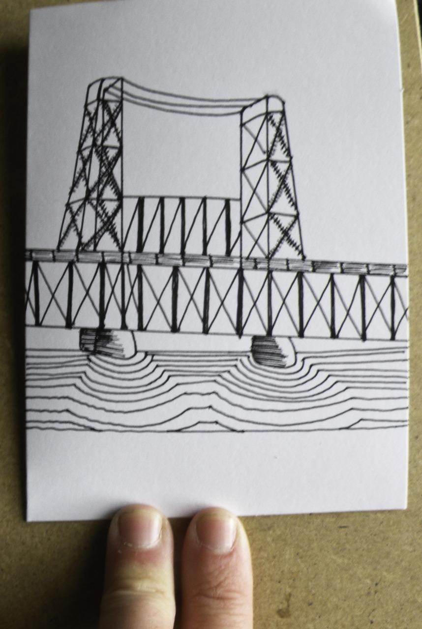 portland steel bridge love