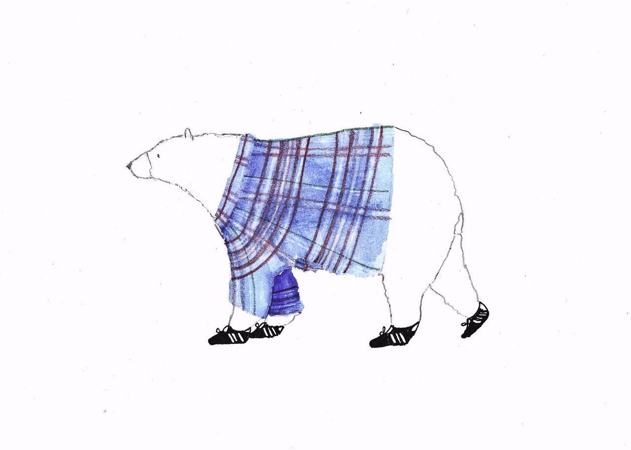 mascot i made for my indoor soccer team, bear farm