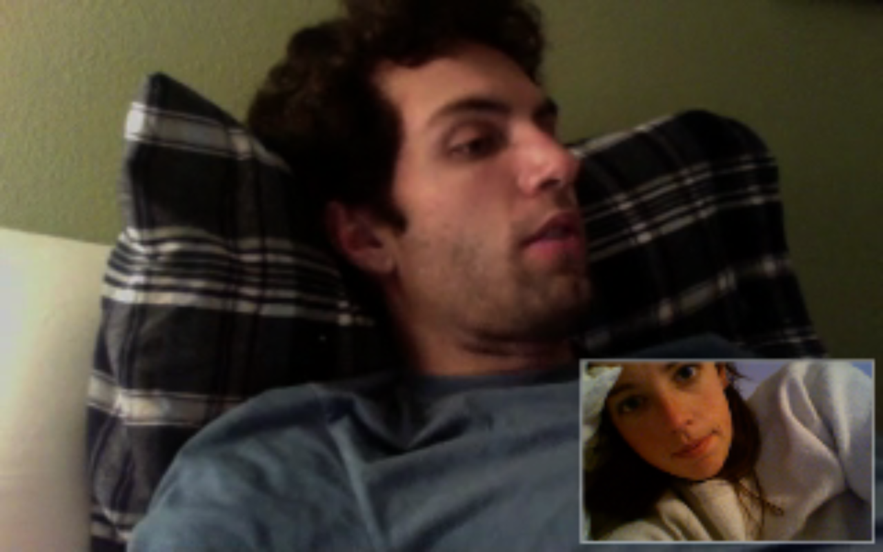 video chat is pretty great. i'm being read to from california