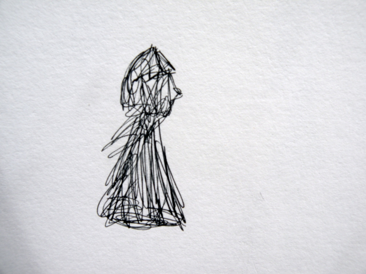 scribble profile of a girl