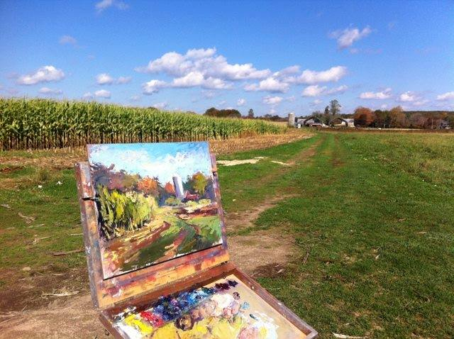 Trish Hurley painting en plein air