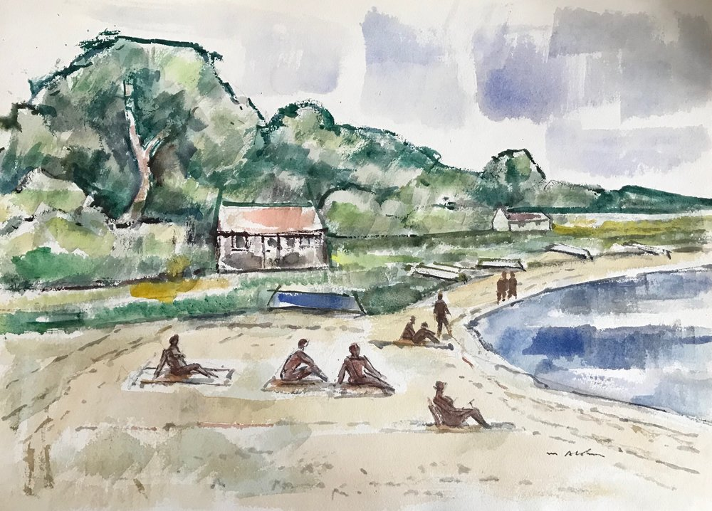 Martha's Vineyard by Max Arthur Cohn Watercolor on Paper 15.5 x 20 3/4