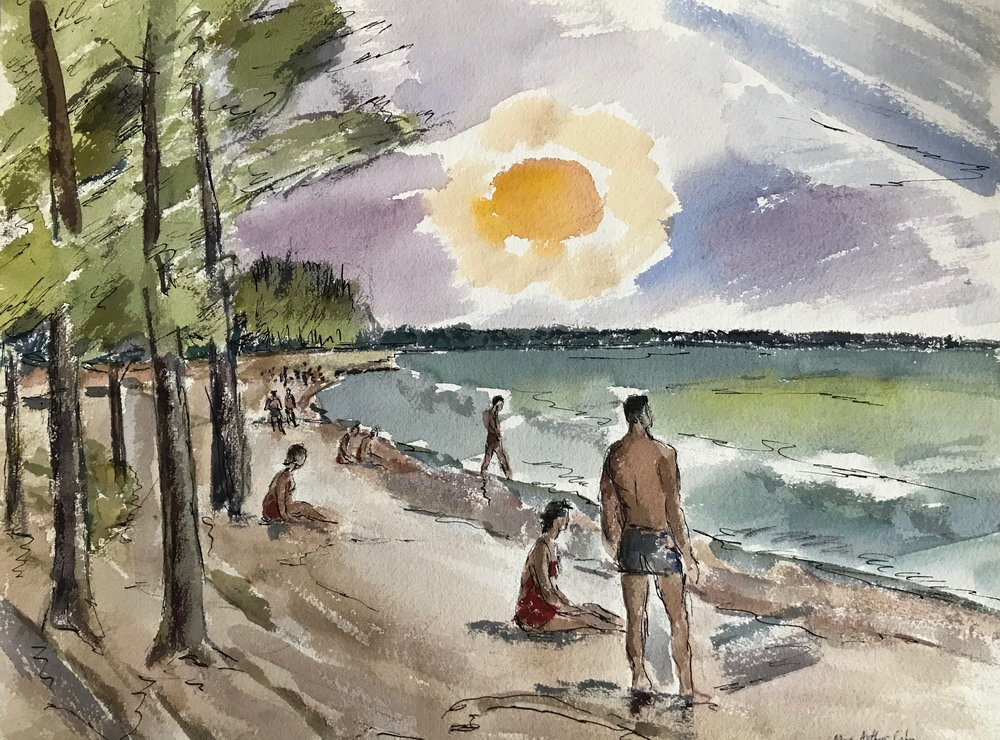 "Sarasota 1952-9 by Max Arthur Cohn 1952 Watercolor on Paper 15"" x 20"""