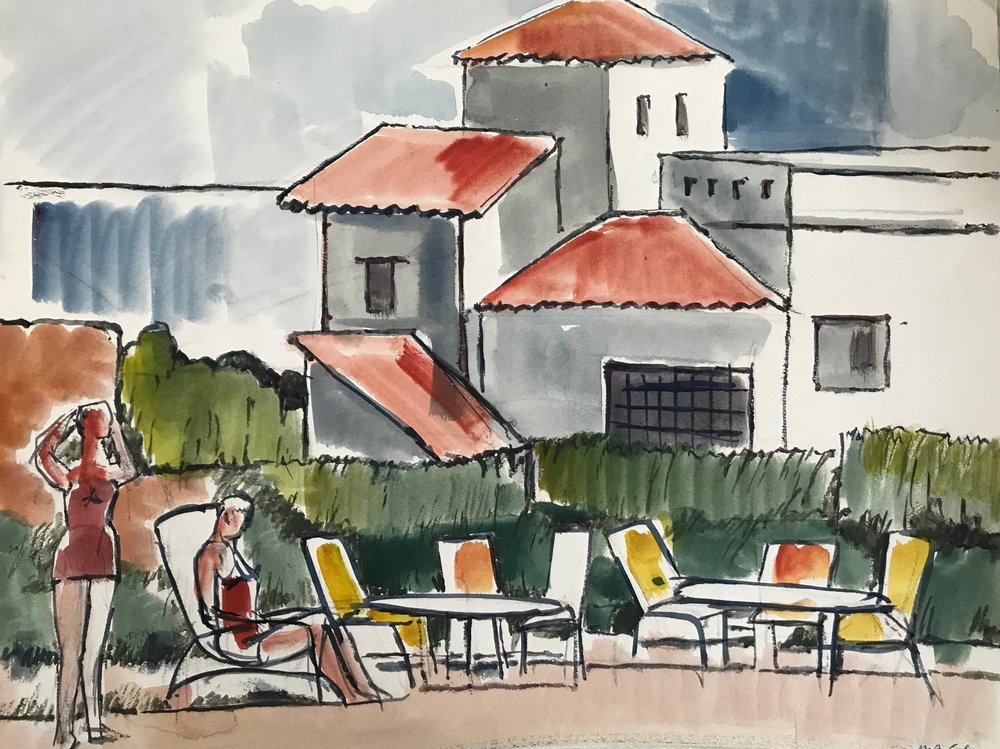 "Haiti 1959-2 by Max Arthur Cohn 1959 Watercolor on Paper 16"" x 19"""