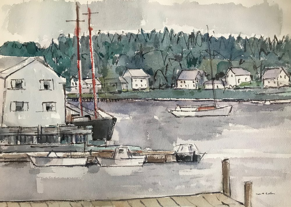 Booth Hay Harbor 1972-22 by Max Arthur Cohn 1972 Watercolor on Paper 13 x 19
