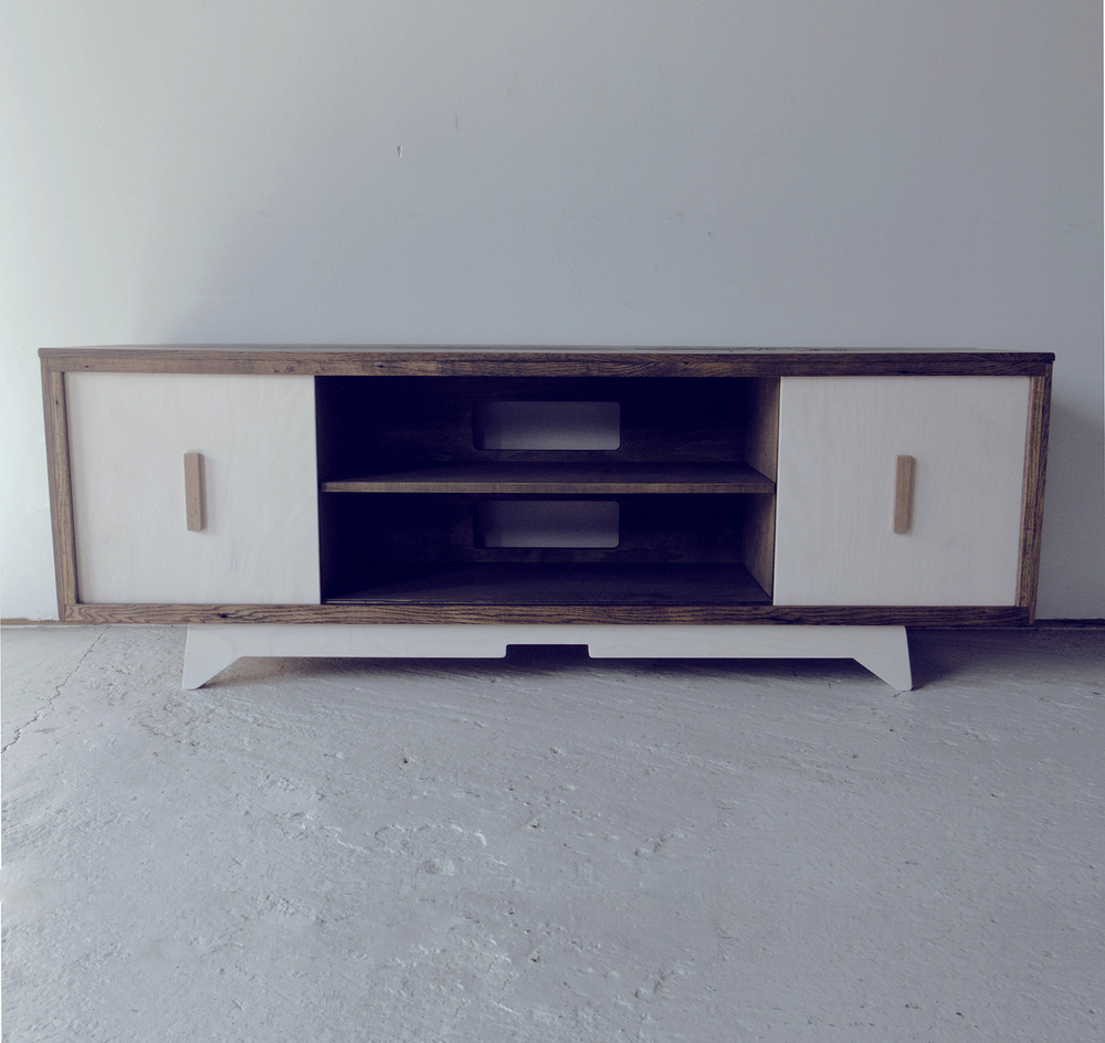 Mid Century Media Console Vintage Media Console Update Hearts  # Meuble Tv Floyd