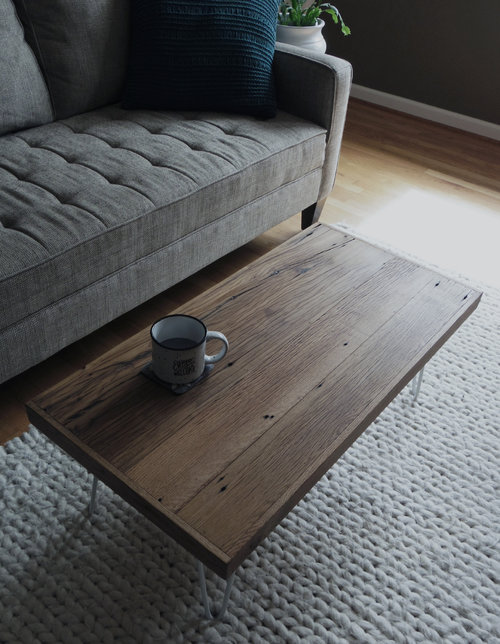 Mid Modern Reclaimed Wood Coffee Table