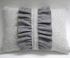 Upcycled cashmere sweater = fabulous pillow-- want this!!!