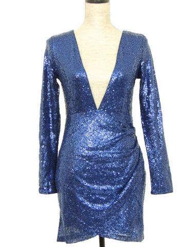 Sparkle with this Holiday Dress in Blue! Don't forget your adhesive tape!