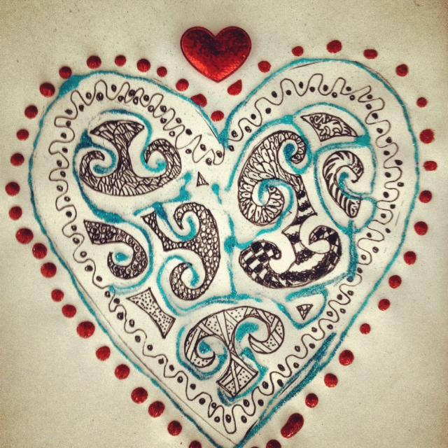 Zentangle Valentine