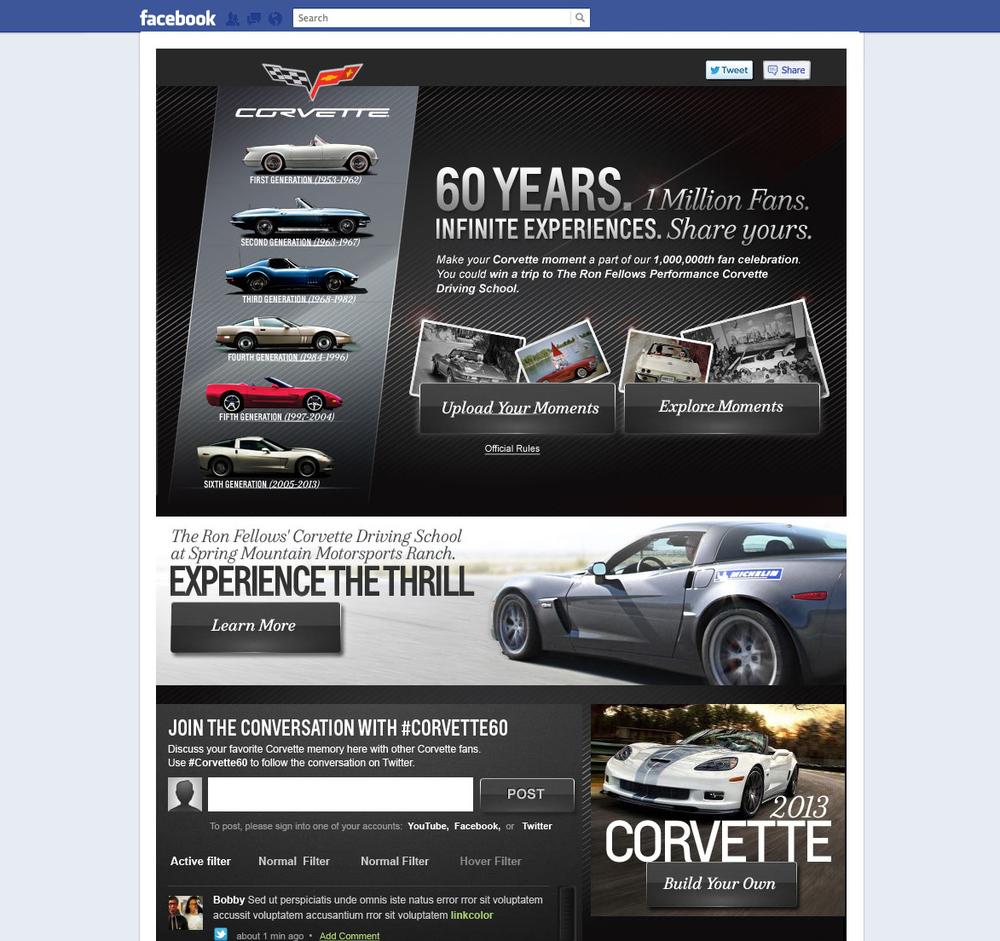 Corvette Facebook Tab