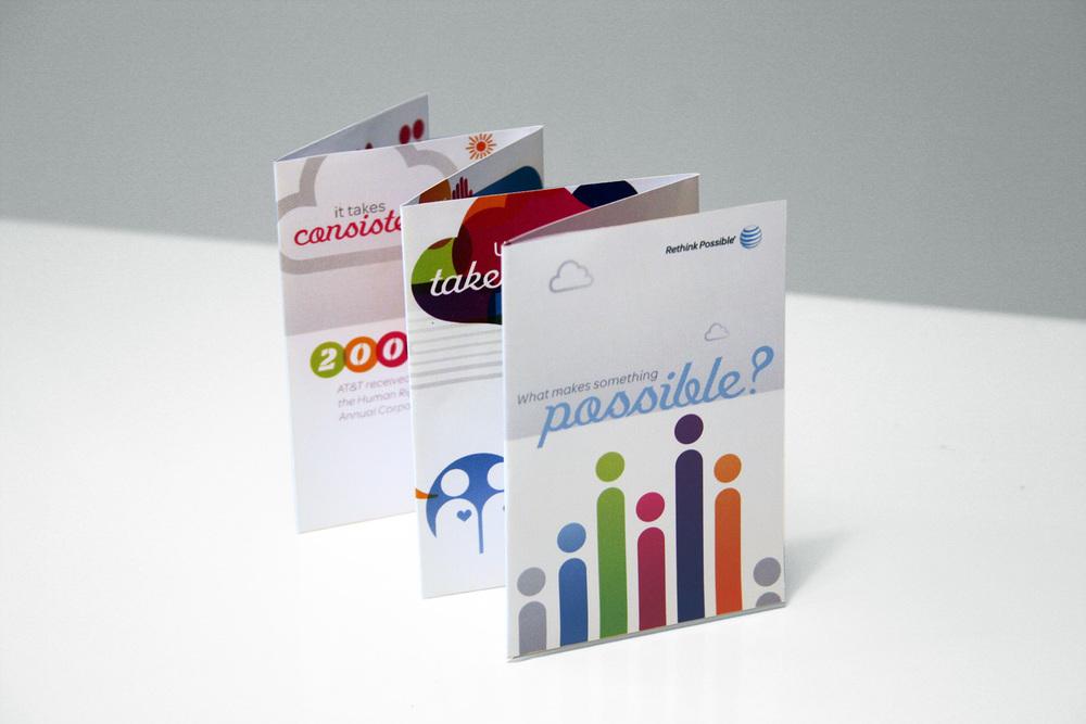 AT&T LGBT Mini Z-fold Brochure