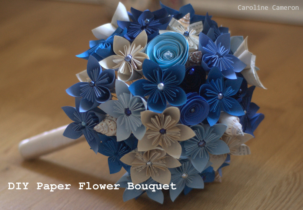 How to make a bouquet of paper