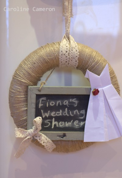 wedding shower wreath