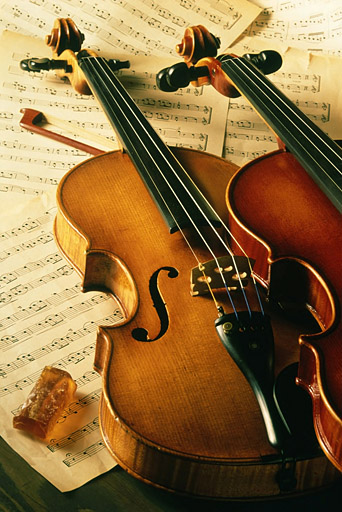 Violin Music Stock Photo