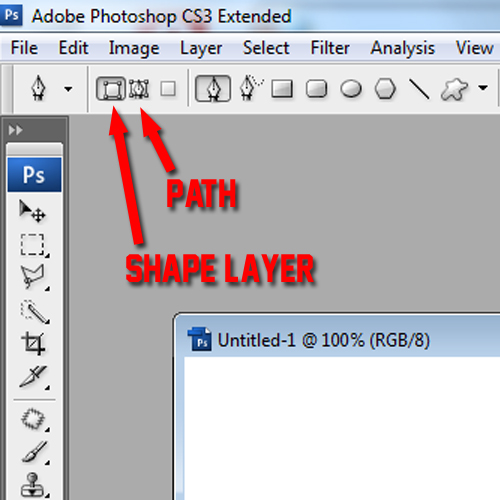 how to put a photo in a shape photoshop