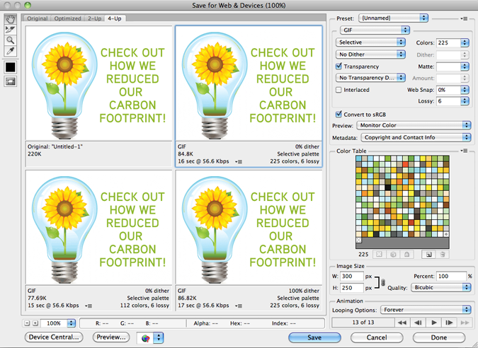 Creatiing Simple yet effective animated Gifs in photoshop
