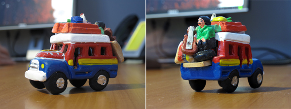 photo of desk trinket truck