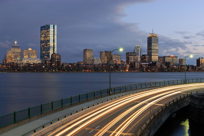 Boston At Night From Cambridge photo ©jorgeantonio