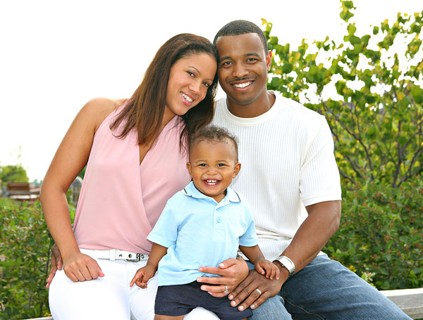 Happy African American Family Outdoor in Summer Sunny Day ©Flashon