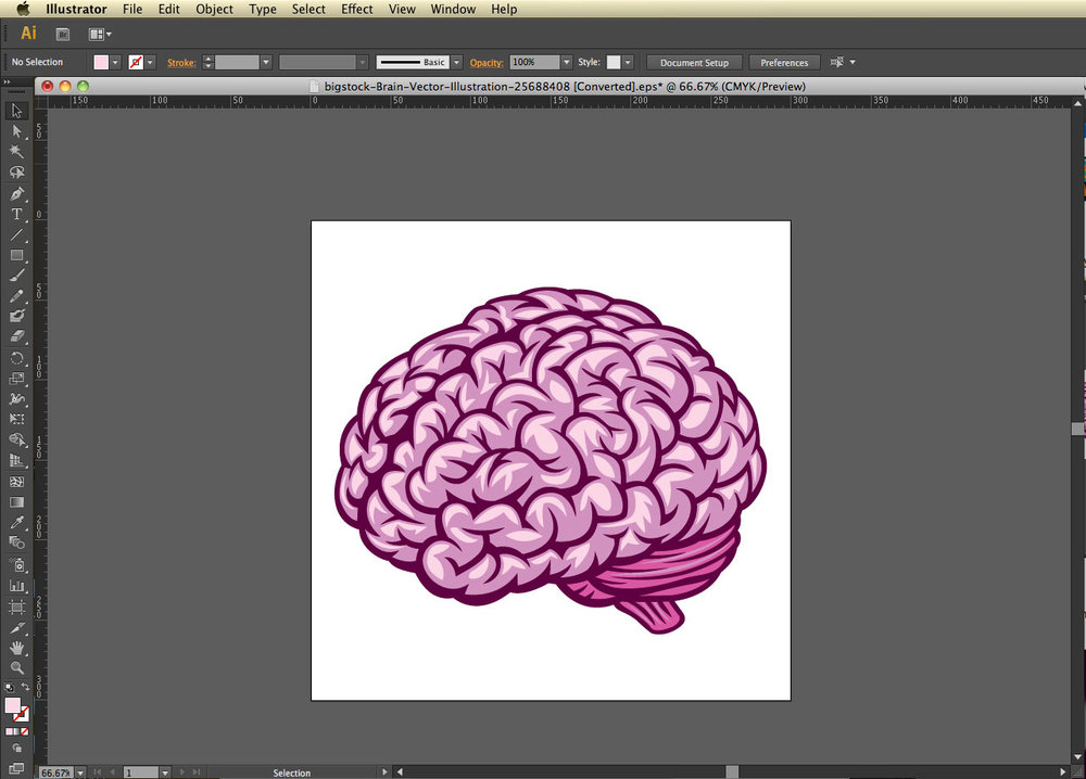 Open in Illustrator. Intro to working with vectors. Bigstock