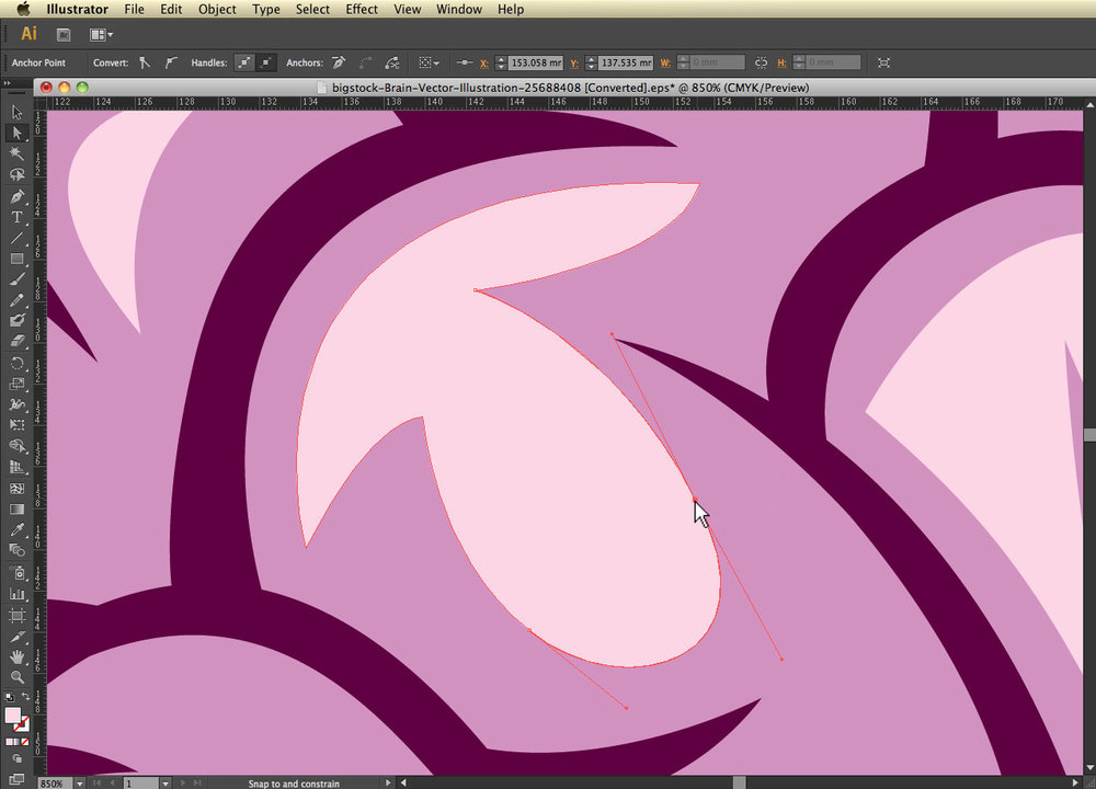 direct select, edit path. Intro to working with vectors. bigstock