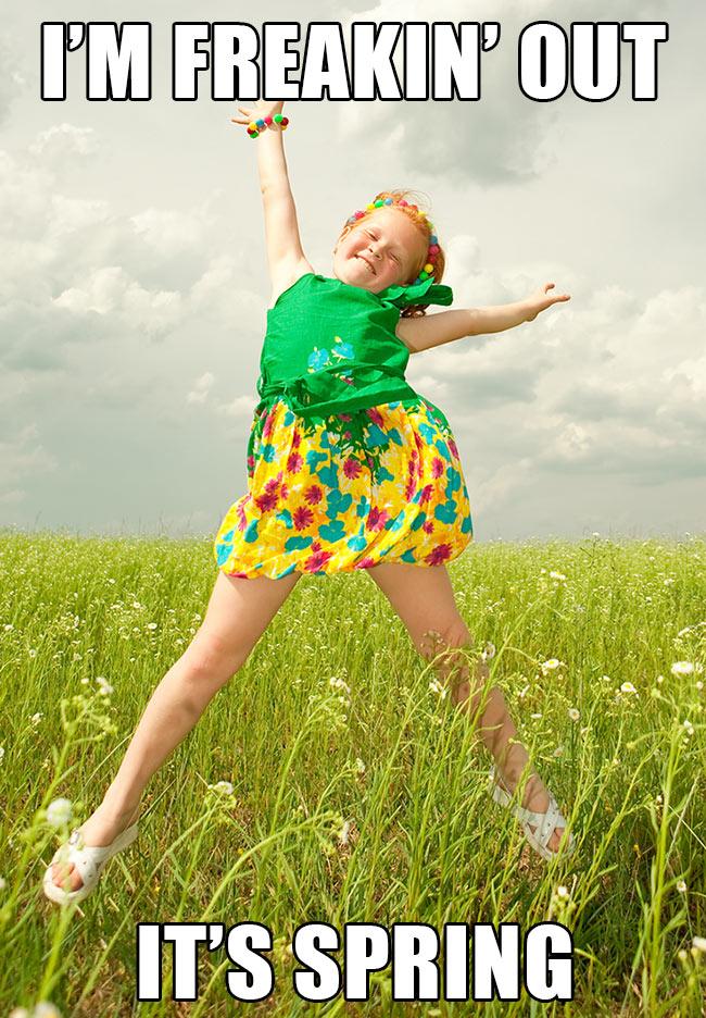 Little Girl Jumping image ©fotokiev