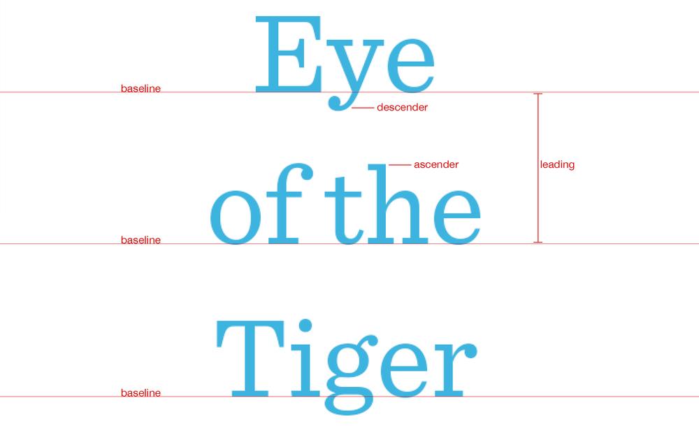 Typography Tutorial Leading Kerning Tracking Bigstock