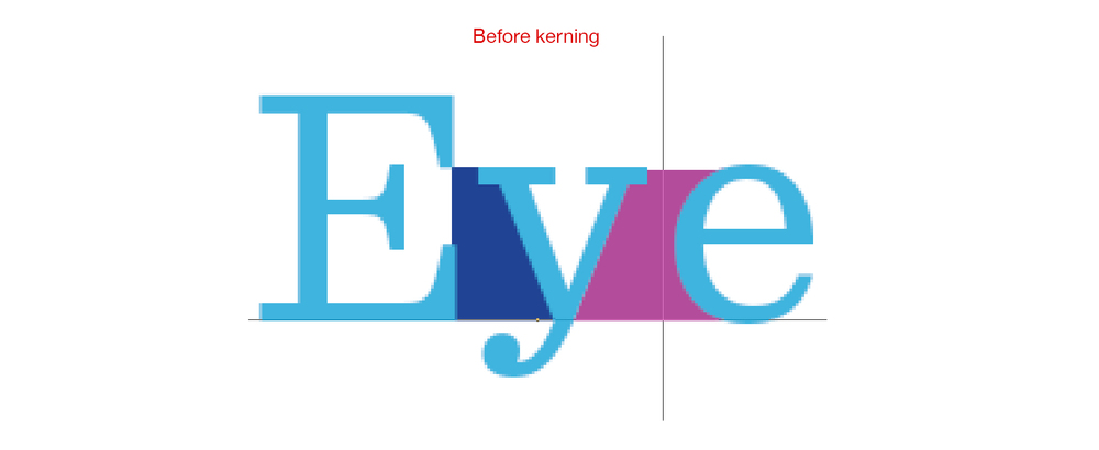before kerning